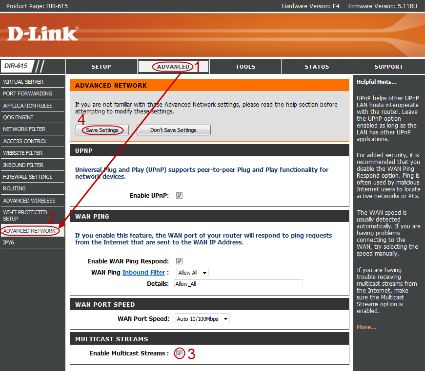 Настройка IPTV на маршрутизаторе Dlink DIR-615 ревизии E4 — Wiki